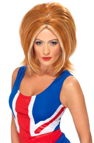 Smiffy's - Perücke Ginger 90er Jahre Ikone blonde Kurzhaarperücke für Damen Damen