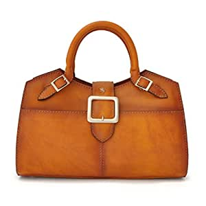 Pratesi Women's Top-Handle Bag Brown Bruce Cognac