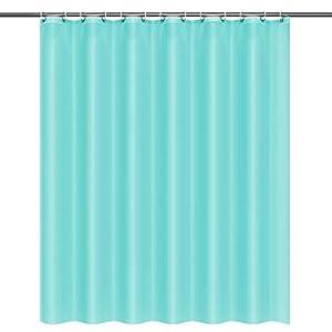 Cortina de baño, htovila Cortina de ducha con 12 ganchos antioxidantes, forro de ducha de poliéster resistente para duchas, bañeras, lavables, 180 x 180 cm