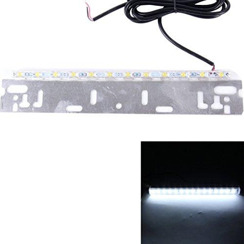 Die Glühbirne 6W 5000K 300LM 12 LED Wafer Auto Backup Hilfslicht Bremslicht, DC 12V Kabellänge: 140cm