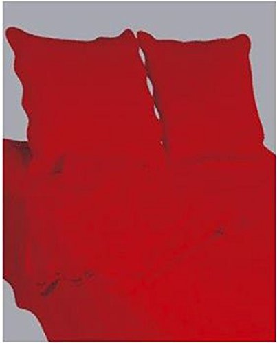 Couvre lit boutis 2 places uni rouge