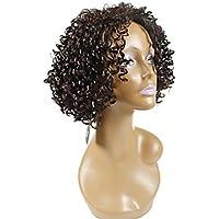 Alta qualità femminile ondulati ricci breve termoresistente Crimp capelli Afro