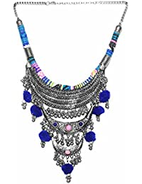 Cemaya Boho Style Three Layered Long Necklace For Women