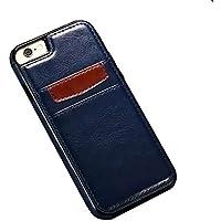 Ducomi® Duke of Palma custodia protettiva con tasca porta carte di credito in vera pelle compatibile con iPhone 6 plus 6s plus (Blue)