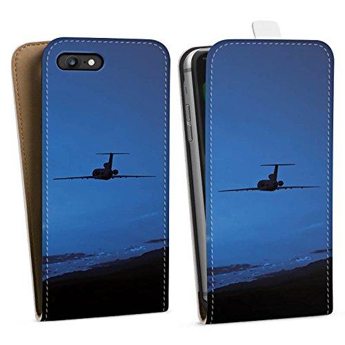 Apple iPhone X Silikon Hülle Case Schutzhülle Flugzeug fliegen Himmel Downflip Tasche weiß