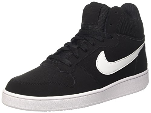 new concept 91d4c 4708e Nike Men s Court Borough Mid Basketball Shoes, Black (Black White), 9