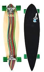 Nijdam Longboard Pintail II Green Vortex Braun/Grün/Beige One Size/39 Zoll