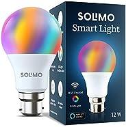 Amazon Brand - Solimo Smart LED Light, 12W, B22 Holder, Alexa Enabled