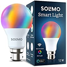Amazon Brand - Solimo Smart LED Light, 12W, B22 Holder, Alexa Enabled