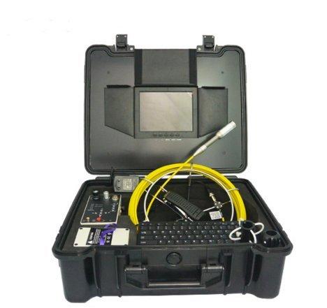 Mabelstar 512Hz Sonde 30m Push Rod câble souterrain Sécurité Canalisation Tuyau d'inspection Caméra avec magnétoscope numérique