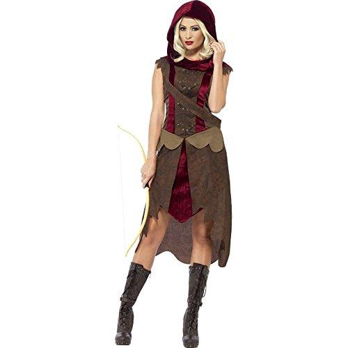 alter Fantasy Jägerin Larp Karneval Fasching Gr.L (Kapuzen-jägerin Halloween-kostüm)