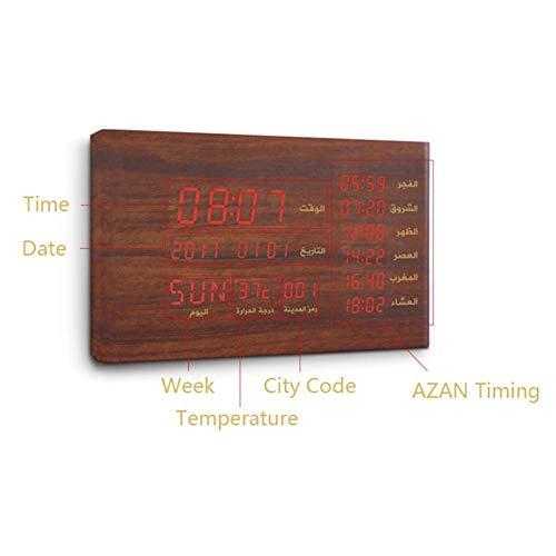 Enjoyyouselves SQ600 Bluetooth Speaker Regalo Musulmano Legno Azan Prayer Clock Tempo di visualizzazione Temperatura per Lettore Quran Multifunzione Orologio - Godetevi Voi Stessi