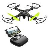 Potensic U42W WiFi 480p Telecamera FPV 2.4GHz RC Quadcopter Drone RTF UFO con Il Nuovo Hover Altitude Hold e 3D capovolge Funzione, Nero