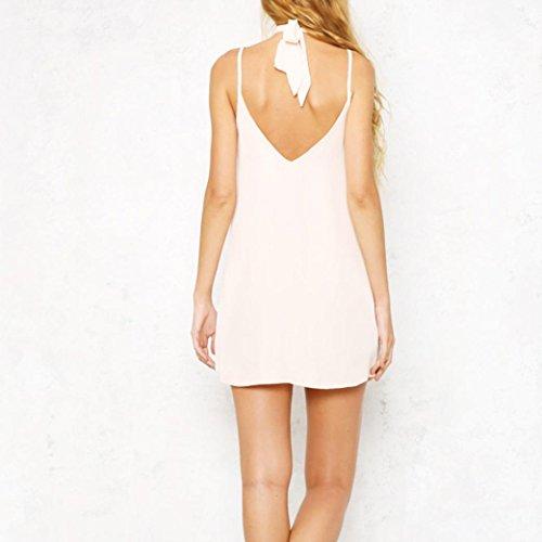 Lolittas Femmes Sexy Appliques Rose Print Sans Manches Strap Camisole Swing Mini-Robe Blanc