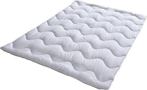 REDBEST Leichtsteppbett Textilfaser weiß Größe 135x200 cm