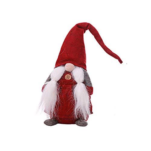 12shage GNOME Decor, Handgefertigt Christmas Eve Geschenke Home Dekoration Ornaments Urlaub Dekorationen GNOME Decor Engel Figuren Geschenk-Set für Damen, Herren und Kinder (Rot)
