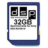 DSP Memory Z-4051557437616 32GB Ultra Highspeed Speicherkarte für Sony DSC-RX100 IV Digitalkamera
