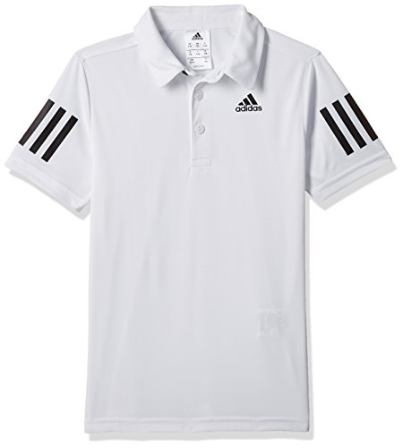 adidas Jungen Club Boys Poloshirt, White/Black, 116