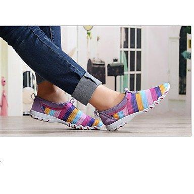 pwne Mocassins Femme Slip-Ons&Amp?; Semelles Confort Plein Air Casualflat Lumi¨¨re Tulle Talon Chaussures De Marche Gris Violet Fuchsia US6 / EU36 / UK4 / CN36