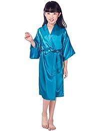 BOYANN Niños Niñas Kimonos Pijamas Batas Vestido ...