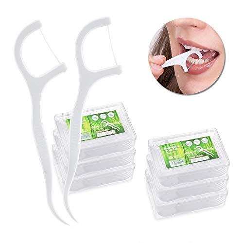 Vordas 6 Pacchi Forcelle Interdentali Filo Interdentale Flossper Denti Orale Cura Denti e Salute Igiene Orale Flosser Forcella, 180 Pezzi