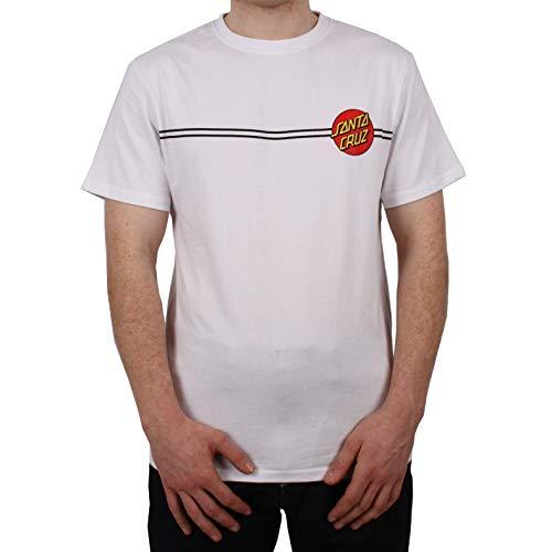 Santa Cruz Weiß Og Classic Dot T-Shirt (Medium, Weiß) - Dot Herren T-shirt
