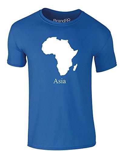 Brand88 - Asia, Erwachsene Gedrucktes T-Shirt Königsblau/Weiß