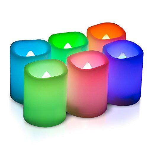 Kohree 6 LED Romantische Kerzen Bunt, Flammenlose Kerzen Farbwechsel mit Timer und Fernbedienung (Kerzen Geruchlos Flammenlose)