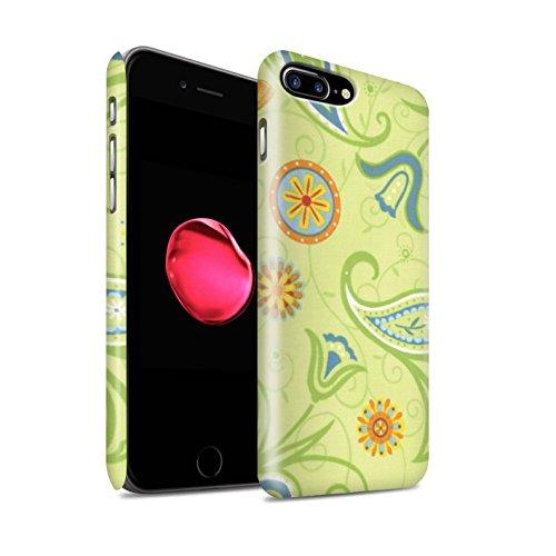 STUFF4 Matte Snap-On Hülle / Case für Apple iPhone 8 Plus / Rosa/Rot Muster / Frühlingszeit Kollektion Grün/Orange