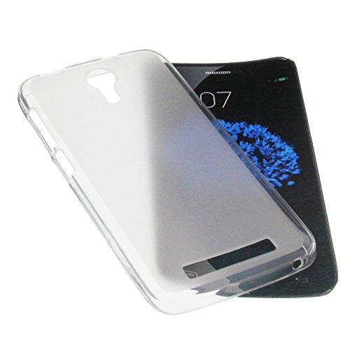Funda para Doogee Valencia 2 Y100 Pro Funda protectora de goma TPU para móvil transparente blanca