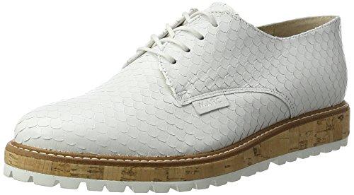 Marc Shoes Naomi, Zapatos de Cordones Derby para Mujer, Plateado (Darksilver 00266), 39 EU