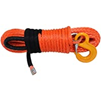 12mm* 30m sintético cabrestante,Synthetic Winch Rope for ATV UT,Offroad Replacement Winch Cable (anaranjado)