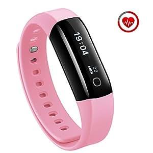 Mpow IP68 Bracciale Fitness, Braccialetto Fitness Tracker Cardiofrequenzimetro Contapassi da Polso per Nuoto Fitness, Smart Watch IP68 Impermeabile Smartwatch Compatibile iOS Android,