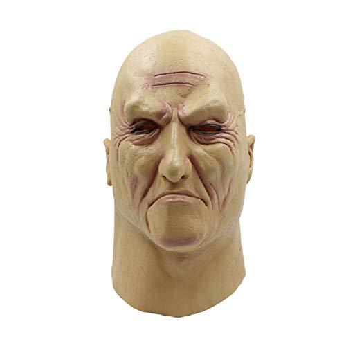 HEXEK Neuheit lustige Deluxe Kostüm Party Latex Alien Maske für Party, Geschenk, Halloween (Deluxe Alien Kostüm)