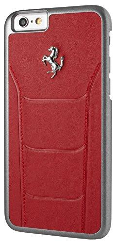 Ferrari FESEHCP6BK Debossed Leder 488 harte Schutzhülle für Apple iPhone 6/6S 11,9 cm (4,7 Zoll) schwarz rot
