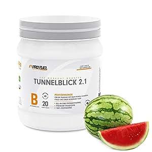 Pre-Workout Booster Fitness für maximalen Pump und Fokus | Trainings-Booster Shake mit Koffein, Beta-Alanin, Guarana, CarnoSyn,Tyrosin | PROFUEL TUNNELBLICK 2.1 Supplement Vegan | 360g Pulver / WATERMELON