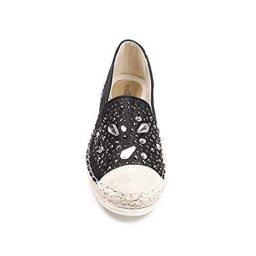 Ideal Shoes, Damen Slipper & Mokassins Schwarz