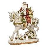 Goebel Fitz and Floyd Santa auf Pferd, Weihnachtsfigur, Weihnachten Figur, Dekofigur, Porzellan, 42 cm, 51000701