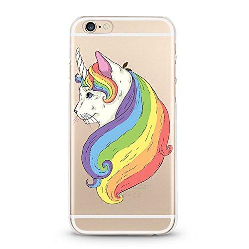 Panelize iPhone 6 Einhorn Hülle Schutzhülle Handyhülle Hard Case Cover Kratzfest Rutschfest Durchsichtig Klar (Einhorn Baby) Katzen Einhorn