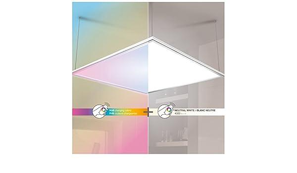 Plafoniere Rgb : Plafoniera quadrata lumen luce bianca e rgb amazon