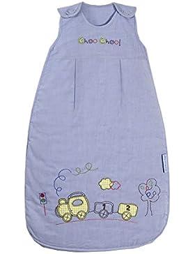 Schlummersack Ganzjahres Babyschlafsack für Jungen in blau 2.5 Tog - Zug - erhältlich in verschiedenen Größen:...