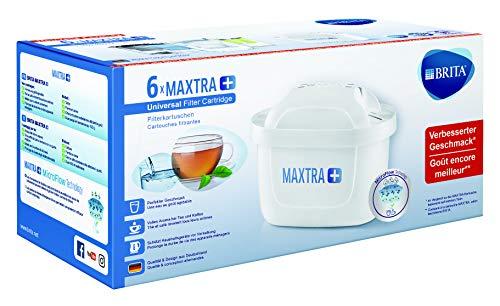 BRITA, Cartouche Filtrante pour Carafe, MAXTRA+ Haute Performance (Nouvelle Formule) - Pack 6