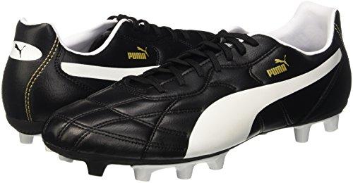 Puma Unisex Adults    Classico I Firm Ground Football Boots  Black  Black White Puma Gold   8 5 UK