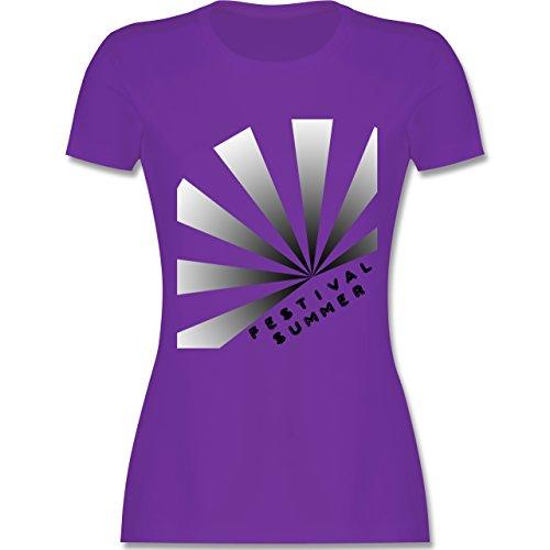Festival - Festival Summer - tailliertes Premium T-Shirt mit Rundhalsausschnitt für Damen Lila