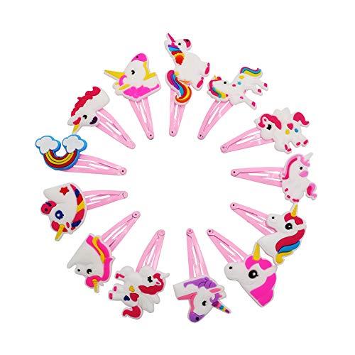 13 Stück Haarnadeln Einhorn mit Metallverschluß Haarspangen Haar-Accessoires für Baby Mädchen Haar-Clips Multifarben Haipins