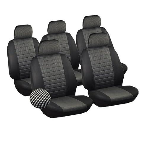 WOLTU AS7231-5 Housse de siège voiture universelle Auto housse polyester housses pour siège,couvre siège,Noir Gris