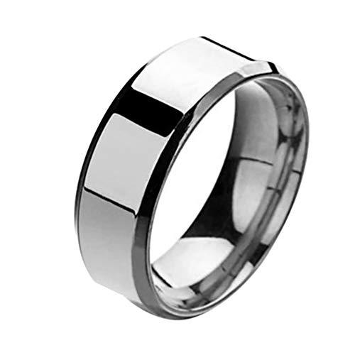 Outflower Titan Stahlring / 8MM Spiegel Edelstahlring/einfacher Ring für Männer und Frauen 5 (A, 10)