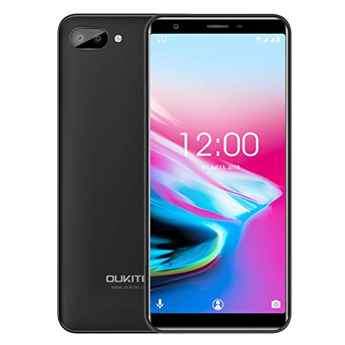 Handy Ohne Vertrag, Oukitel C11 5,5 Zoll Touch Display 3400mAh Batterie 1GB RAM 8GB ROM, MTK6580A Quad Core, Duale Hintere Kamera Dual SIM 3G Smartphone Android 8.1-Schwarz 3g Touch Handy