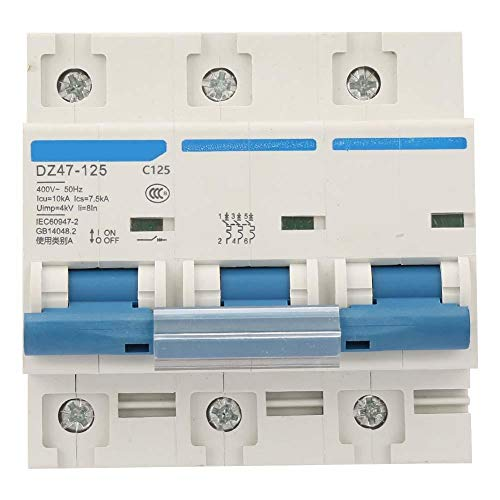 Zerone Interruptor automático, interruptor de protección contra fugas 400V 80/100/125A DZ47-125 Interruptor...