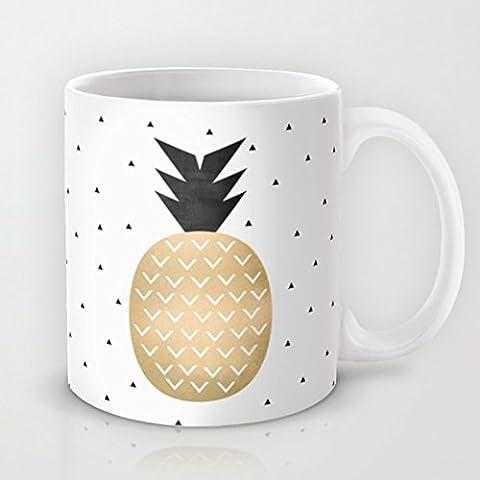 Vogue Mug Tasse à Café humoristique Ananas Tropical Tasse à café Tasse 11oz tasse en céramique Tasse pour café lait jus ou Tasses à thé tasse cadeau pour Noël cadeau pour les hommes cadeau pour femmes